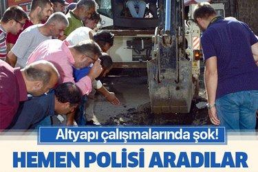Erzurum'da ilginç olay! Altyapı çalışmalarında şok!