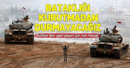 Cumhurbaşkanlığı'ndan Fırat'ın doğusuna operasyon mesajı: Terör bataklığını kurutmadan durmayacağız