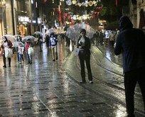 İstanbul yağış başladı trafik kilitlendi