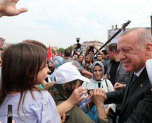 Başkan Erdoğan'a Bahçelievler'de yoğun ilgi
