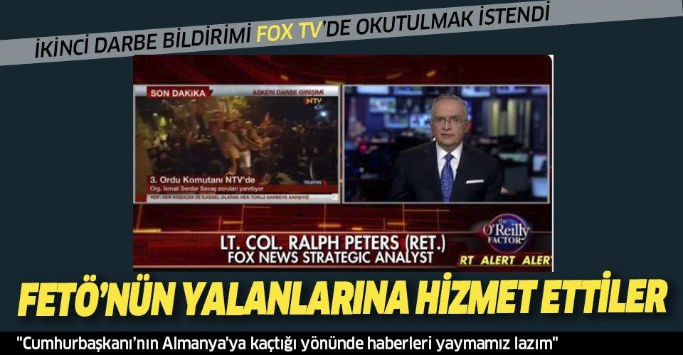 Uluslararası medya, FETÖ'nün yalanlarına hizmet etmiş! İkinci darbe bildirimi FOX TV'de okutulmak istendi