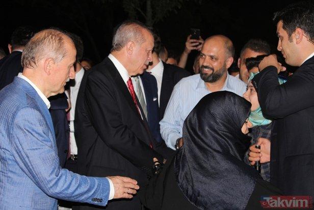 Başkan Erdoğan, piknik yapan vatandaşlarla sohbet etti