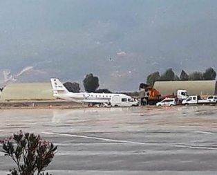Özel uçak pistten çıktı! Havalimanı uçuşlara kapatıldı