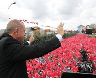 Başkan Erdoğan'a Sancaktepe'de yoğun ilgi