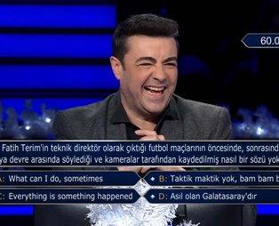 Kim Milyoner İster'de Kenan İmirzalıoğlu ve Burak Kut'u gülümseten Fatih Terim sorusu: Bakın cevabı neymiş...