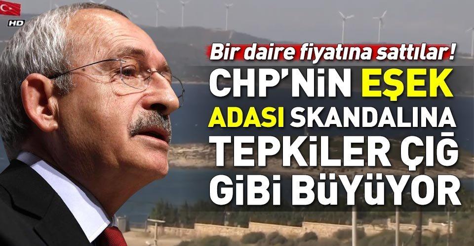 CHPnin Eşek Adası skandalına tepkiler çığ gibi büyüyor!