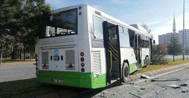 Kayseri'de halk otobüsü beton mikseriyle çarpıştı