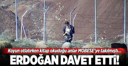 Siirt'te koyun otlatırken kitap okuyan Kader'i Erdoğan davet etti