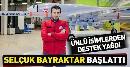 TEKNOFEST Yönetim Kurulu Başkanı Selçuk Bayraktar'ın başlattığı tweet zincirine ünlü isimlerden destek
