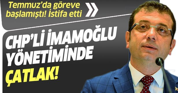 CHP'li İmamoğlu yönetiminde çatlak!