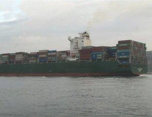 300 metrelik dev gemi İstanbul Boğazı'ndan geçti
