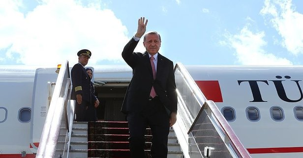 Başkan Erdoğan Kırgızistan'dan ayrıldı