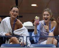 Gigi ve Bella Hadid tribünü podyuma çevirdi
