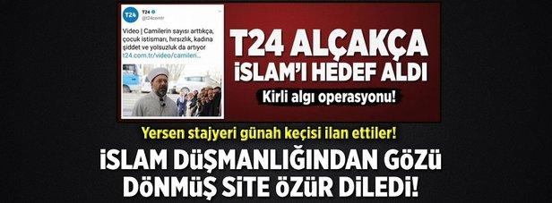 İslam düşmanlığından gözü dönmüş site özür diledi!