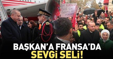 Başkan Erdoğan Fransa'ya geldi