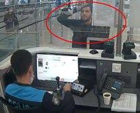 İstanbul Havalimanı'nda PKK'lı terörist böyle enselendi!