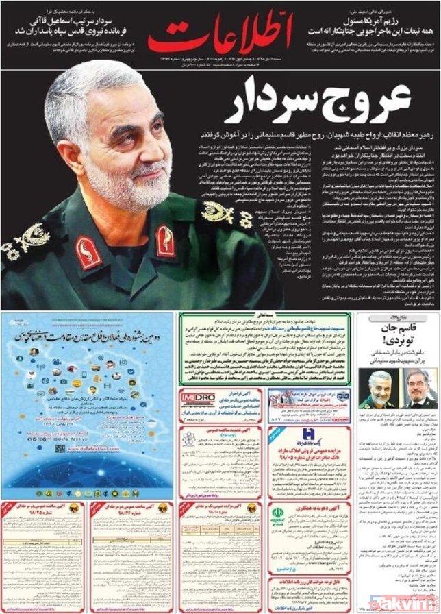 Süleymani suikastı dünyayı karıştırdı! ABD'ye olan öfke İran gazetelerine böyle yansıdı