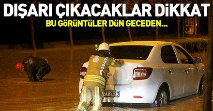 İstanbullular dikkat! Bu görüntüler dün geceden...