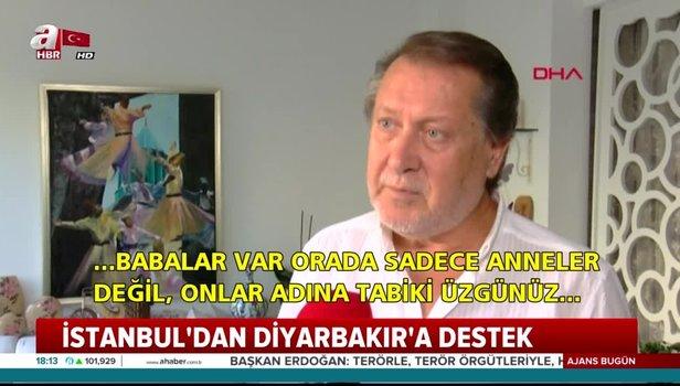 Orhan Gencebay, Hülya Koçyiğit ve Ahmet Özhan'dan Diyarbakır'da nöbet tutan annelere destek