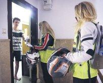 Motosikletli gönüllüler iş başında