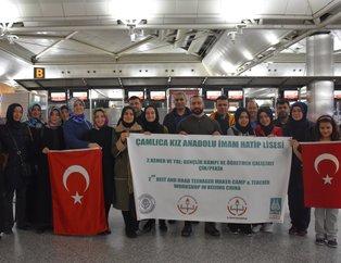 Çamlıca Kız Anadolu İmam Hatip Lisesi öğrencileri Türkiyeyi Çinde temsil etti!!