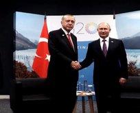 Son dakika: Erdoğan- Putin ile görüştü