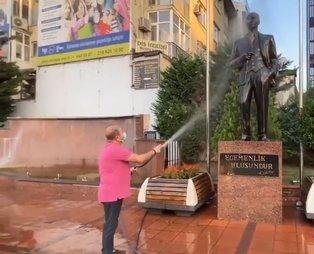 Heykel belediyeciliği tam gaz devam! CHP'li Maltepe Belediye Başkanı Ali Kılıç, Atatürk heykelini yıkadı