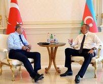Cumhurbaşkanı Erdoğan Aliyevle görüştü