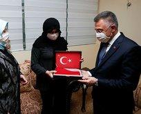 Şehit Korgeneral Erbaş'ın ailesine taziye ziyareti