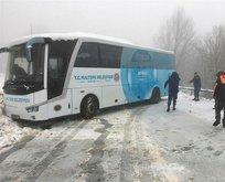 İstanbul'un yanıbaşı... Karda mahsur kaldılar