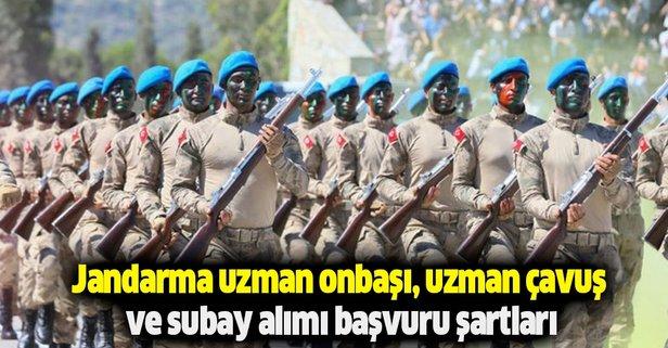 Jandarma uzman onbaşı, uzman çavuş ve subay alımı ne zaman?