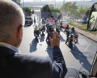 Binali Yıldırım'a motosikletlilerden sürpriz