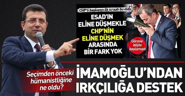 CHP'li Tanju Özcan'ın ırkçı uygulamasına Ekrem İmamoğlu'ndan destek: Suriyeliler gitsin