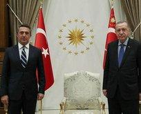 Başkan Recep Tayyip Erdoğan Ali Koç'u kabul etti
