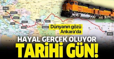 'Orta koridor' ticareti başladı! Çin'den gelen tren Marmaray'dan bugün geçecek