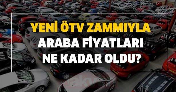Yeni ÖTV zammı ile araba fiyatları ne kadar oldu?