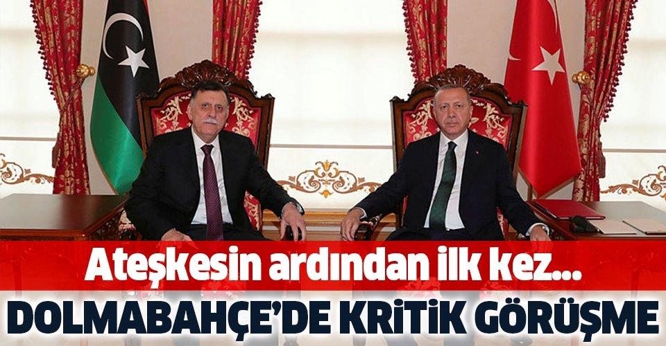 Başkan Erdoğan ile Libya UMH Başbakanı Serrac arasında kritik görüşme