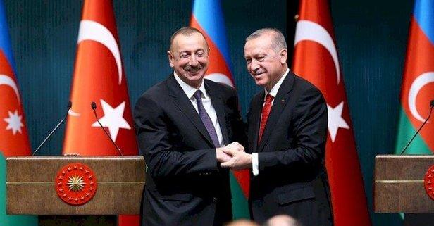 Aliyev'den Başkan Erdoğan'a teşekkür