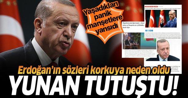 Erdoğan'ın resti Yunan basınında! İyice tutuştular