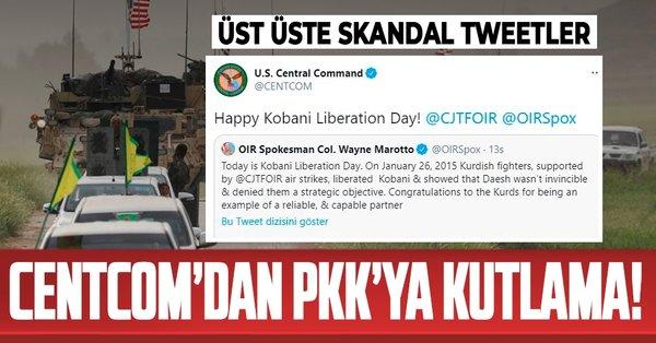 ABD Merkez Komutanlığı CENTCOM'dan terör örgütü PKK'nın suriye kolu SDG'ye  Twitter'dan Kobani kutlaması! - Takvim
