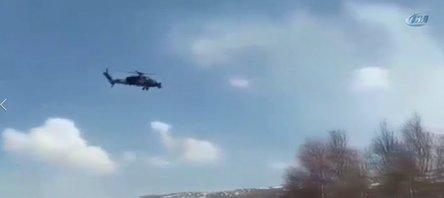 Helikopterler teröristlere ölüm yağdırdı