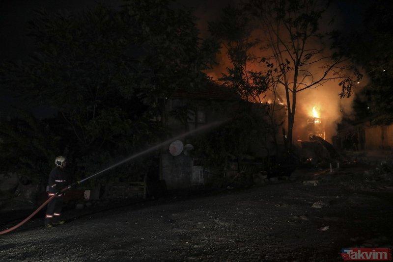 Beslediği kediler yaşlı adamı yangından son anda kurtardı
