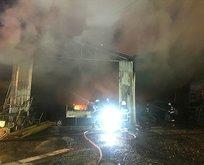 Belediyeye ait depoda yangın