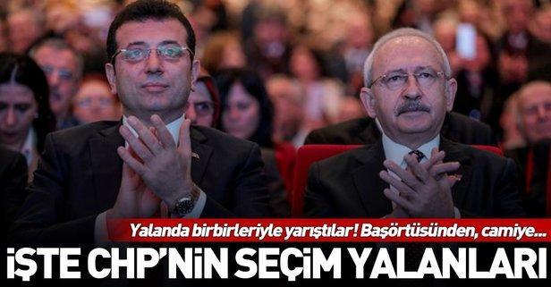 Kemal Kılıçdaroğlu ve Ekrem İmamoğlu'nun seçim yalanları