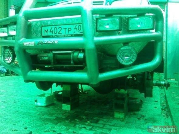 Rus mühendis hurda Mercedesten canavar yaptı!