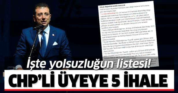 CHP'li belediyeden CHP'liye 5 ihale