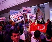 Başkan Erdoğana ABDde sevgi seli