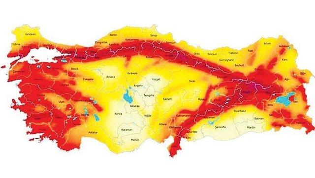 Türkiye Deprem Haritası Değişti Mi Deprem Haritası Nedir Hangi