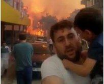 Hatay'daki yangında mağdur olan babadan Gezici ünlülere tepki