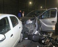 Haliç Köprüsü'nde zincirleme kaza